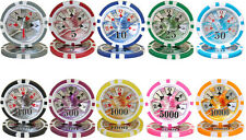 New Bulk Lot of 500 Ben Franklin 14g Clay Poker Chips - Pick Denominations!