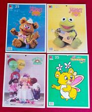 4 LOT Vintage LG TRAY PUZZLES Puzzle 1984 MB Muppet Babies WUZZLES Cabbage Patch