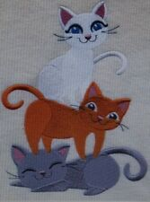Kitty Stack Kids Set Hand Towels Embroidered Adorable
