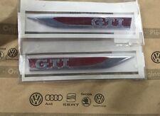 GTI Plaketten Emblem Logo Golf Polo seitlich Schriftzug Kotflügel Styling rot