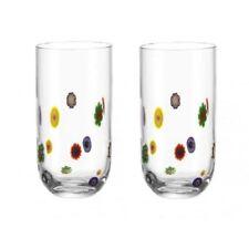 LEONARDO Longdrinkglas Millefiori 2er Set   Longdrink Glas Saftglas Trinkbecher