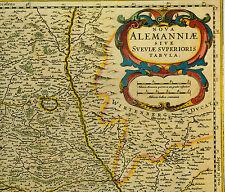 Historische Landkarte Oberschwaben, Sigmaringen, Pfullendorf, Riedlingen 1658