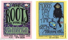 """Maritime Hall 1996 San Francisco 4""""x5"""" Handbill Morris Day & The Time The Roots"""