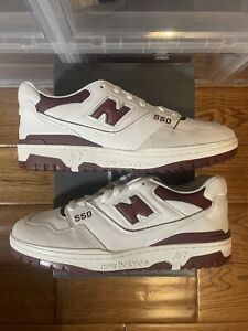 New Balance 550 Sea Salt White Burgundy