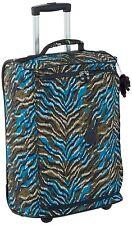 Kipling Teagan XS Cabin Sized 2 Wheeled Trolley Suitcase, 50 cm, Blue Animal Pr