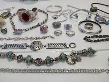 Awesome Vintage Variety STERLING  Estate JEWELRY Lot  NOT SCRAP 435 grams