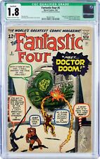 Fantastic Four #5 1962 CGC 1.8Q Origin and 1st Appearance Dr. Doom!!! New Frame