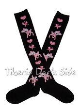 Black Deer Heart Butterfly Sweet Gothic Lolita Cosplay Kawaii Over Knee Socks