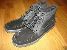 NEW $70 GBX Black LEATHER & SUEDE High Top Casual Shoes Mens 11