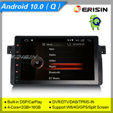 "DSP Android 10 BMW E46 Autoradio 318 320 325 DAB+GPS TPMS TNT DVR CarPlay 9""4296"