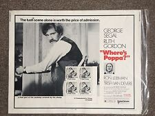 Where's Poppa 1970 Original Movie Poster George Segal Comedy