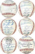 1957 New York Giants JSA Vintage Team Signed ONL Baseball Willie Mays Auto