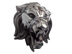 Aluminium LARGE Wall Mount Lion Head Figurine Sculpture  a/u/