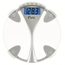 Weight Watchers 12.5-Inch Round Glass Weight Tracking Scale for 4 Users WW43NAM
