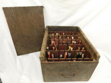 48 VINTAGE WOOD FISHING LURES PIKE BASS IN HANDMADE HOLY GRAIL CASE ANTIQUE