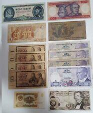 20 25 1 10 100 1000 Billete chelines rublo florines korum liras cruceiros libra