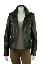 Ladies Black Napa Slim Short Tight  Fitted Biker Leather Jacket Bike Fashion