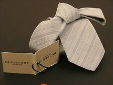 "BURBERRY london man tie ""MANSTON AUL"" blue delft 100% silk cod.37455271 NEW tag"