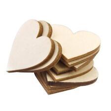 25 x 8cm Mini Wooden Love hearts shapes MDF Laser Cut Craft Embellishments