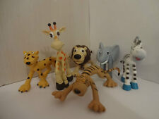 JUNGLE ANIMALS CAKE TOPPERS 6 PLASTIC FIGURES BRAND NEW FREE P+P