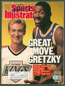 Lakers Magic Johnson Signed August 1988 Sports Illustrated Magazine BAS #WP80028