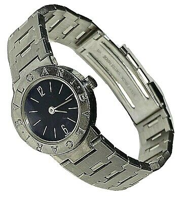 "BULGARI BVLGARI Stainless Steel Quartz Ladies Swiss Watch $3650 6.5"" Bracelet"