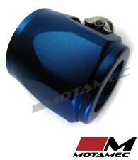 Motamec 20mm AN10 Fuel Hose Clamp End Finisher Hex Head Jubilee Alloy BLUE
