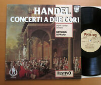 Philips 6570 114 Handel Concerti A Due Cori Raymond Leppard 1968 NEAR MINT