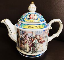 "Collector's English James Sadler ""Oliver Twist"" Charles Dickens Ironstone Teapot"