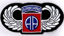 AIRBORNE 82nd w/WINGS - IRON or SEW ON PATCH