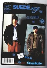 Simplicity 1947 44-52 Sewing Pattern Men's Bomber Suede or Padded Jacket