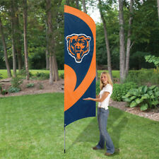 Chicago Bears 8.5 Foot Tall Team Flag 11.5' Pole Sign Banner 8 1/2' Tailgate