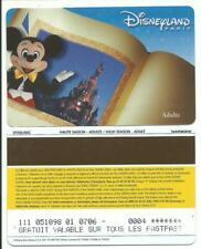 pass EuroDisney Disneyland FASTPASS sur ticket Mickey livre série 01/06/MIC RARE