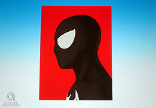 Spider-Man Black Suit Mondo Mike Mitchell Portrait Print Marvel Giclee Proof
