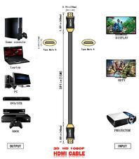 6FT 2M Capacity Durable HDMI V1.4 AV Cable High Speed 3D Full HD 1080P A