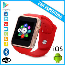 Original A1/W8 Smart Watch Montre Facebook Bluetooth SIM Slot Android iOS Red