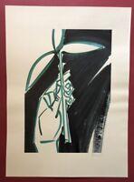 Bernhard Johannes Blume, Blatt 5, Farbsiebdruck, 1985, signiert und datiert