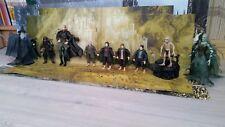 SEIGNEUR DES ANNEAUX Lot de 7 figurines (héros 2) + 2 autres + accessoires TBE
