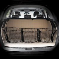 Trunk Cargo Organizer Storage Net With Three Pocket For Car SUV Pickup Truck Bed