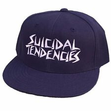 Dogtown X Suicidal Tendencies OG EMBROIDERED LOGO Snapback Skateboard Hat NAVY