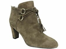 TR Taryn Rose Women's Trisha Lace-Up Ankle Booties Quinoa Suede Size 6 M