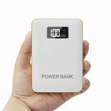 50000mah Universal Power Bank 2 USB LED Backup Battery Charger for Smart Phone White