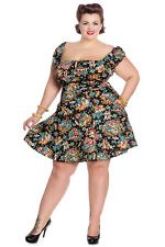 Hell Bunny Monte Carlo  Mini Rockabilly Swing Retro Vintage Day Tea Dress XL-4XL