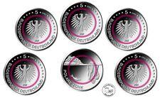 BRD 5 x 5 Euro 2021 Polymer Ring ganzer Satz ADFGJ Polare Zone * St / Bfr.*