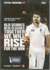 OFFICIAL TEST MATCH PROGRAMME - LORDS MCC CRICKET - THE ASHES 2013 - Ticket