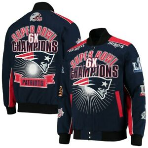 NEW ENGLAND PATRIOTS NFL 2020 G-III SUPERBOWL CHAMPION COMMERATIVE SNAP JACKET