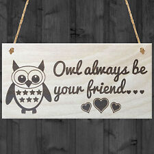 Red Ocean Owl Always Be Your Friend Novelty Best Friends Love Friendship Cute