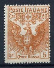 Italia Regno 1915 Sass. 105 Nuovo ** 100% Pro Croce Rossa