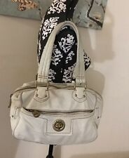 MARC BY MARC JACOBS TOTALLY TURNLOCK LEATHER SATCHEL SHOULDER BAG OFF WHITE $458