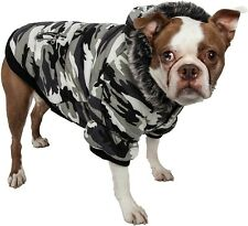Fashion Pet Parka Coat - Cute, thick dog jacket Black & White CAMO Pre owned